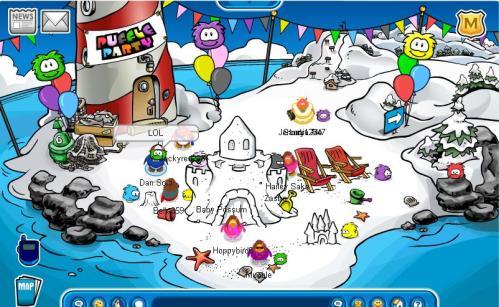 puffle-party-beach